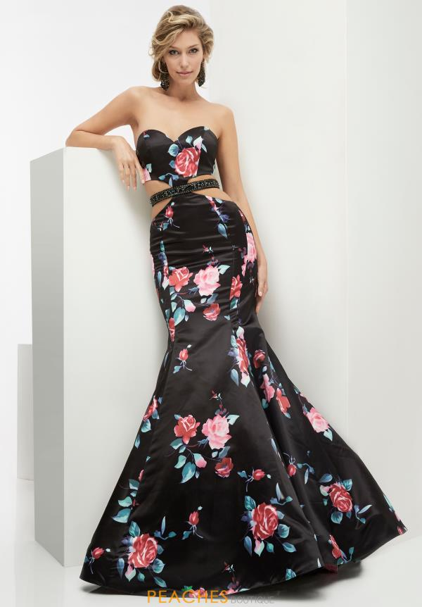 Strapless Black Jasz Couture Dress 5917