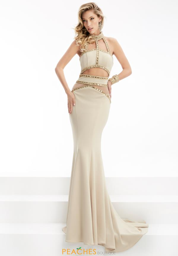 Jersey Fitted Jasz Couture Dress 5923