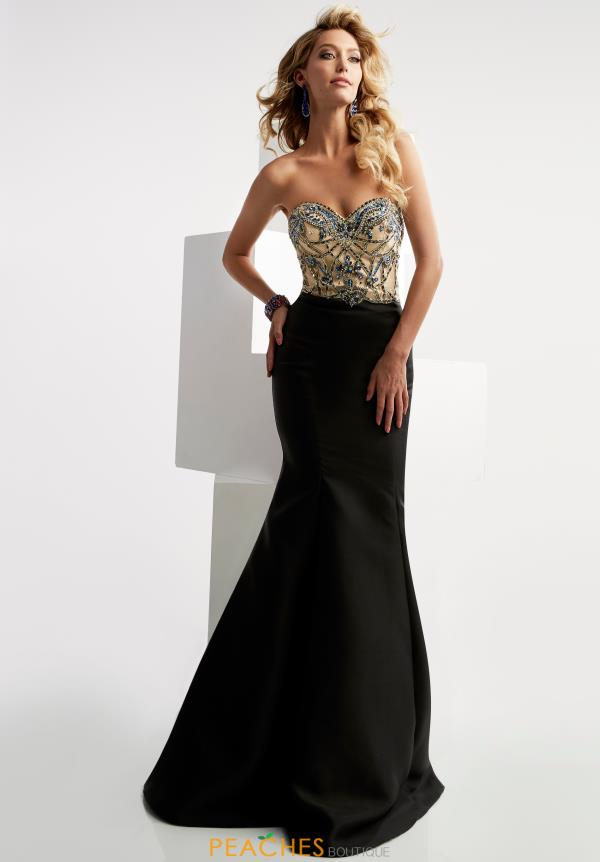 Jasz Couture Black Mermaid Dress 5924