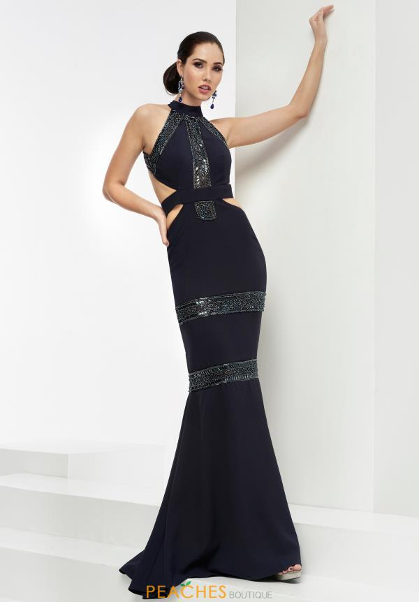 Sexy Open Back Fitted Jasz Couture Dress 5929