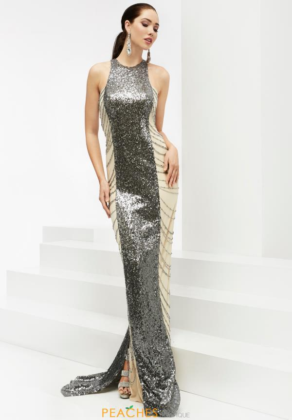 Beaded Long Jasz Couture Dress 5933