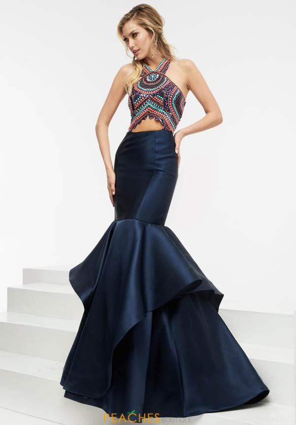 Long Navy Jasz Couture Dress 5934