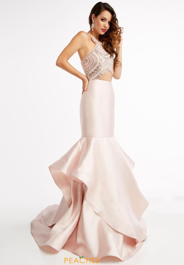 Jasz Couture Pink Fitted Dress 5934B