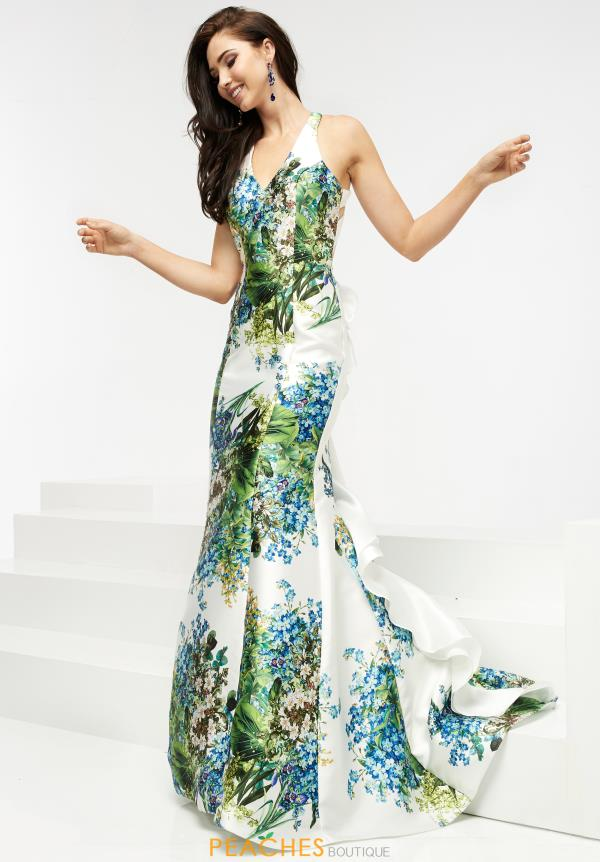 Jasz Couture Long Print Dress 5937