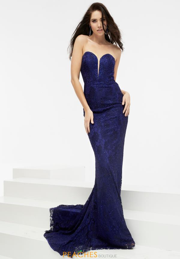 Strapless Fitted Jasz Couture Dress 5940