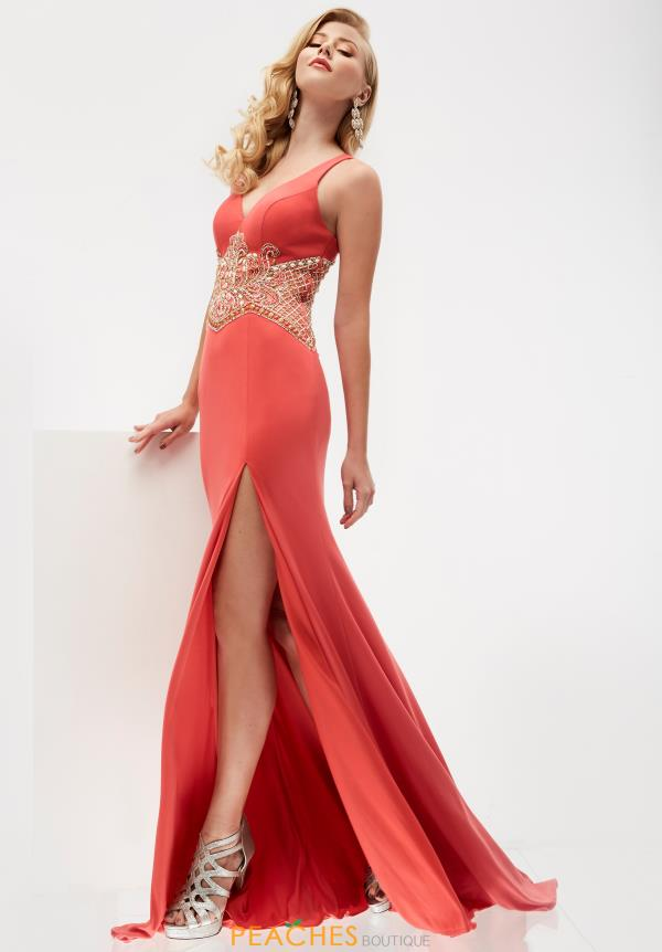 Jersey Fitted Jasz Couture Dress 5946