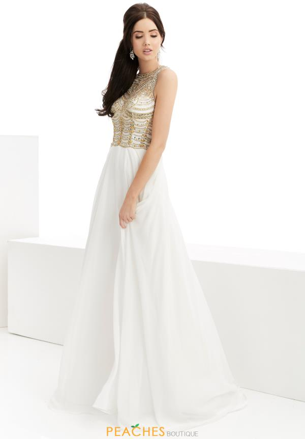 Long Ivory Jasz Couture Dress 5957