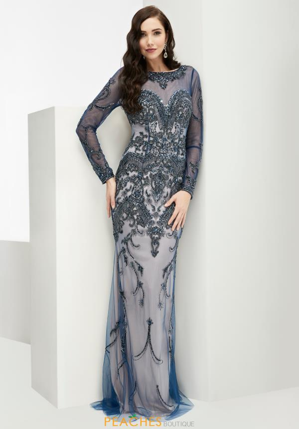Sleeved Fitted Jasz Couture Dress 5970