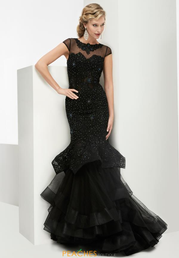 Black Mermaid Jasz Couture Dress 5971