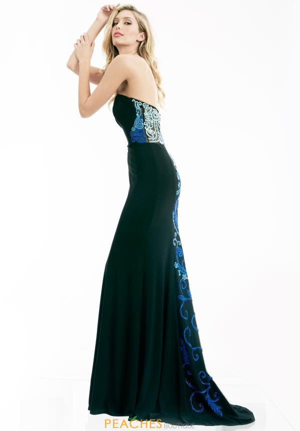 Black Fitted Jasz Couture Dress 5973