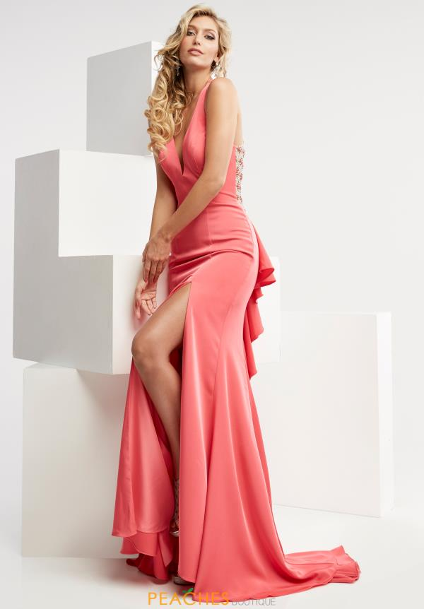 Long Pink Jasz Couture Dress 5980