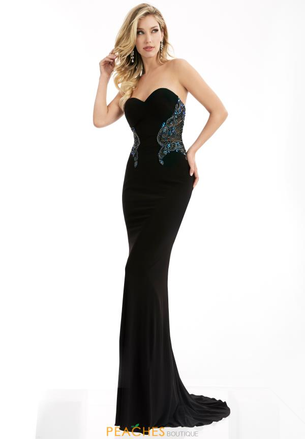 Jasz Couture Long Fitted Dress 5982