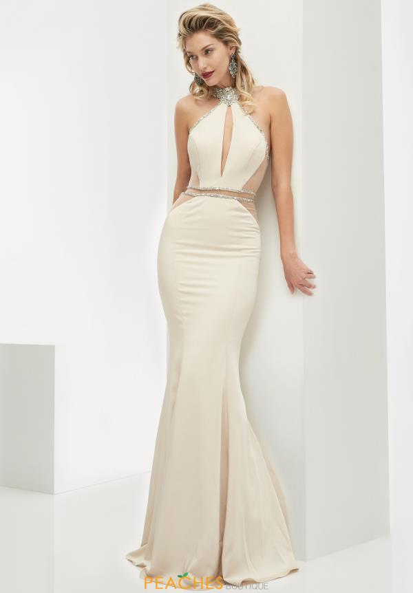 Jasz Couture Jersey Fitted Dress 5986