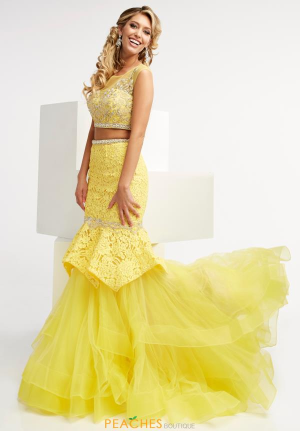 Jasz Couture Beaded Two Piece Dress 5991