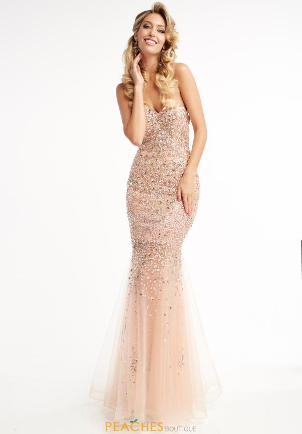 Jasz Couture Beaded Long Dress 5996