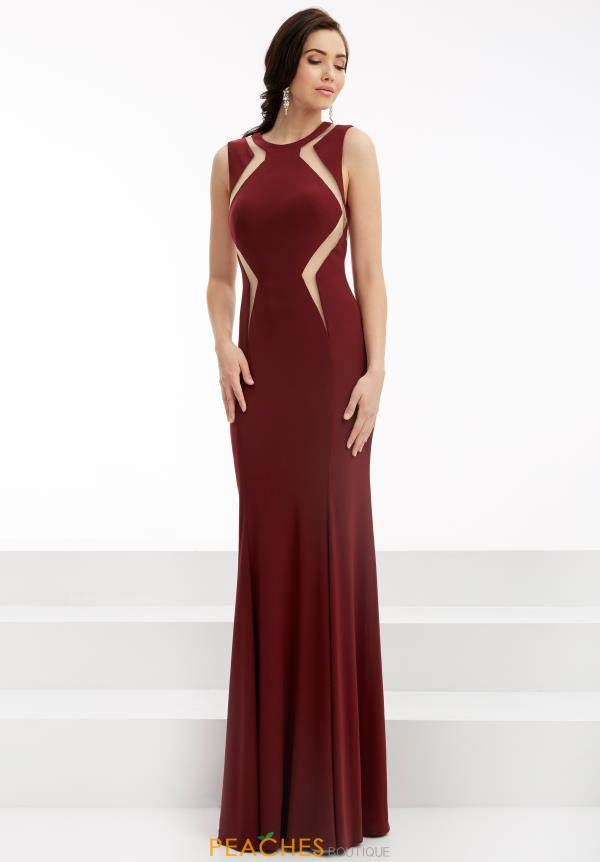 Jasz Couture Long Fitted Dress 5999