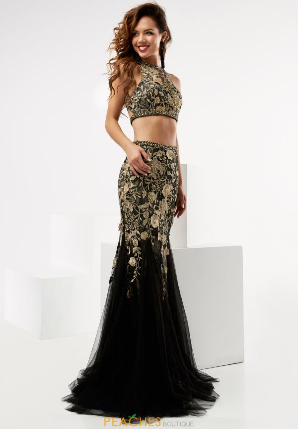 Jasz Couture Two Piece Black Dress 6009