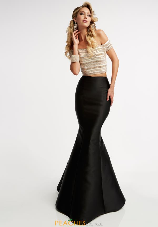 Jasz Couture Black Two Piece Dress 6020
