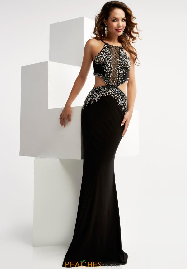 Beaded Long Jasz Couture Dress 6021