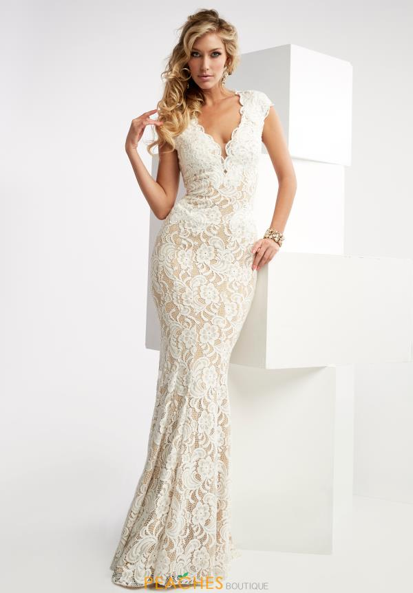 Lace Fitted Jasz Couture Dress 6025