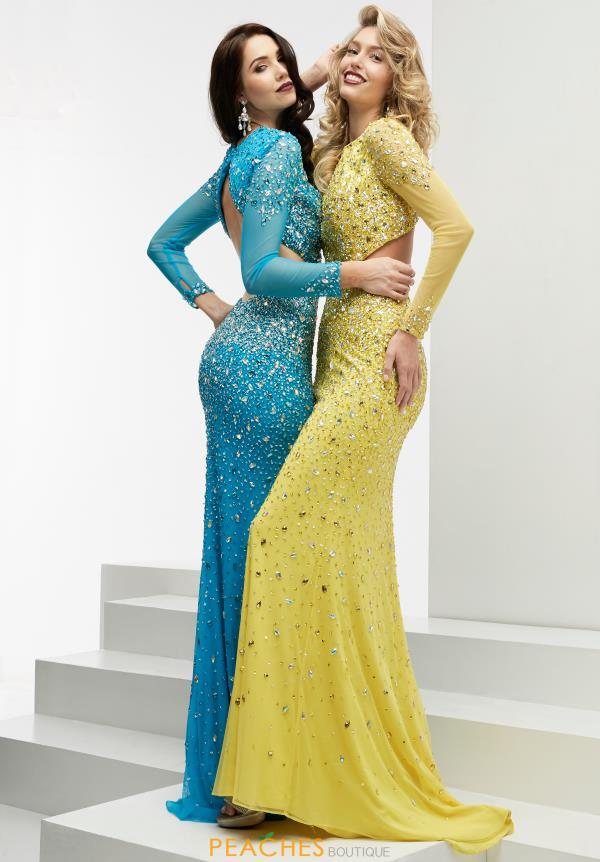 Jasz Couture Beaded Long Dress 6026