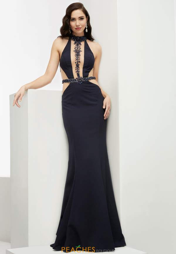 Fitted Long Jasz Couture Dress 6030