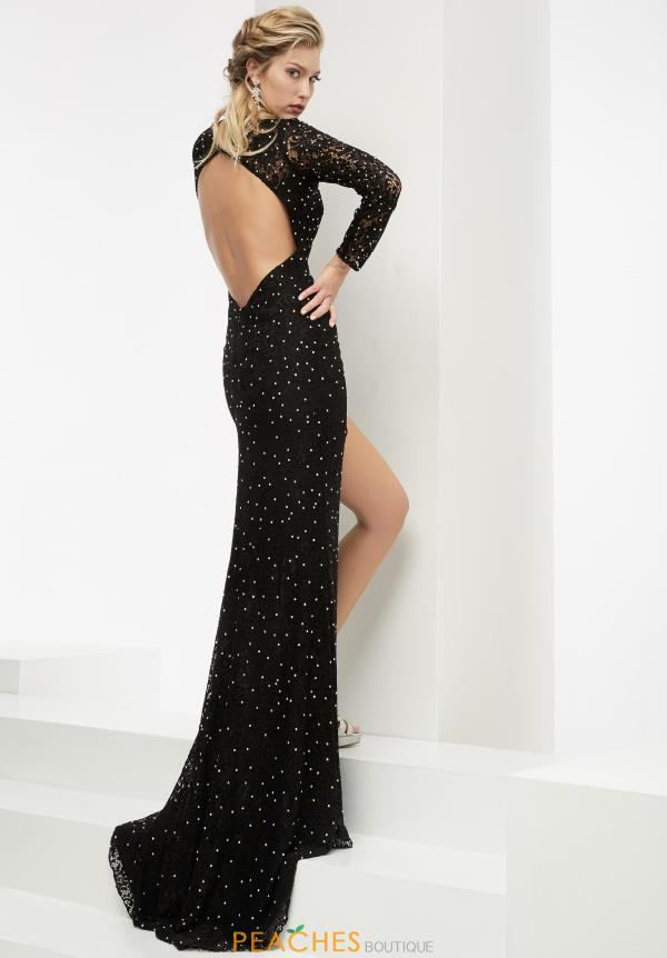 Jasz Couture Sleeved Long Dress 6033