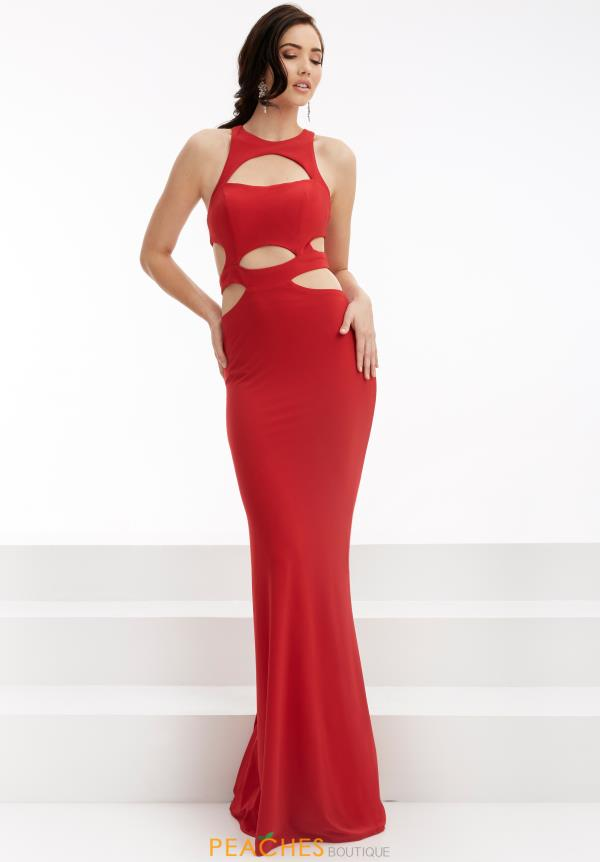 Jasz Couture Long Jersey Dress 6047