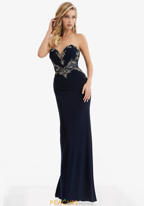 Jasz Couture Lace Fitted Dress 6051