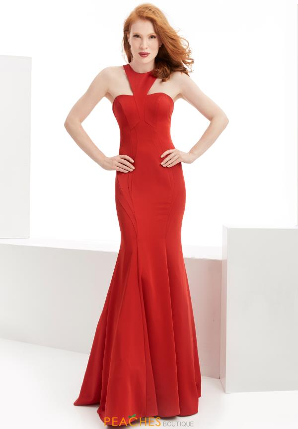 Long Red Jasz Couture Dress 6062