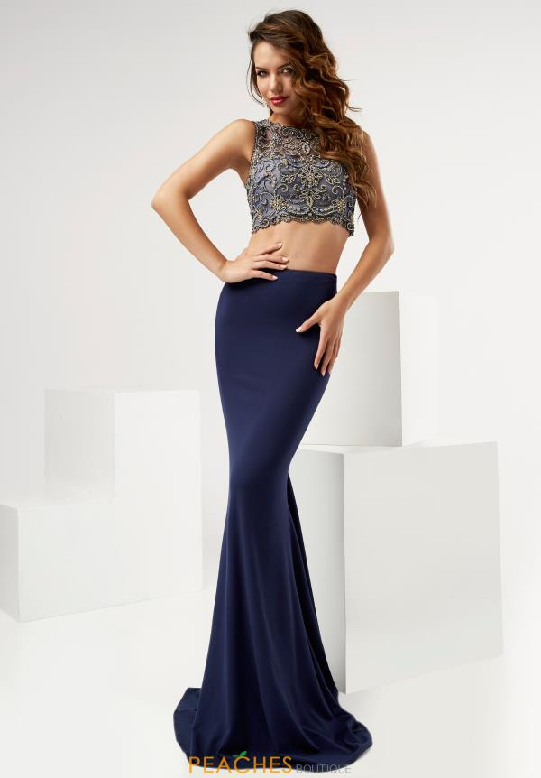 Jasz Couture Two Piece Fitted Dress 6112