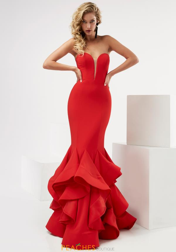 Strapless Fitted Jasz Couture Dress 6115