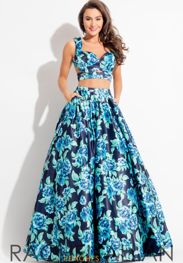 Rachel Allan Two Piece Satin Dress 7510