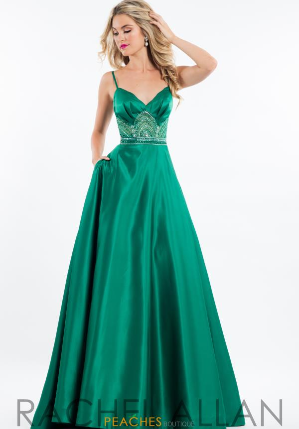 Rachel Allan Full Figured Satin Dress 7531