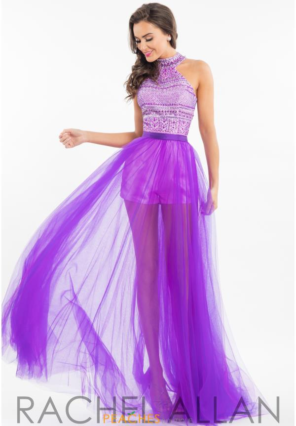 Rachel Allan Long Tulle Dress 7547