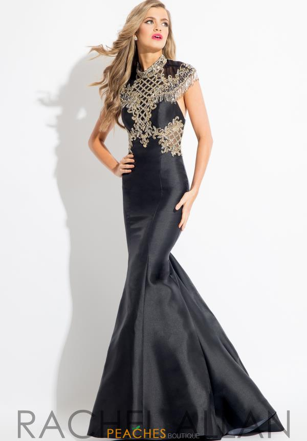 Rachel Allan Mermaid Beaded Dress 7561