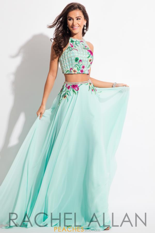 Rachel Allan Two Piece Chiffon Dress 7602