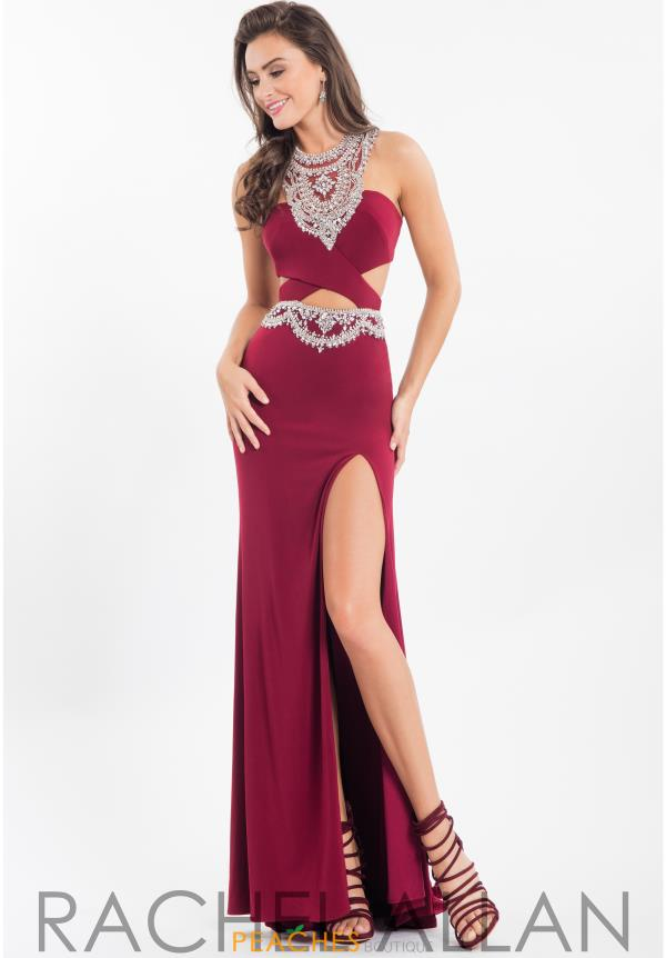 Rachel Allan Sexy Back Beaded Dress 7611