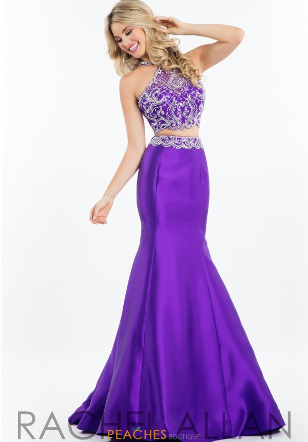 Rachel Allan Mermaid Halter Neckline Dress 7621