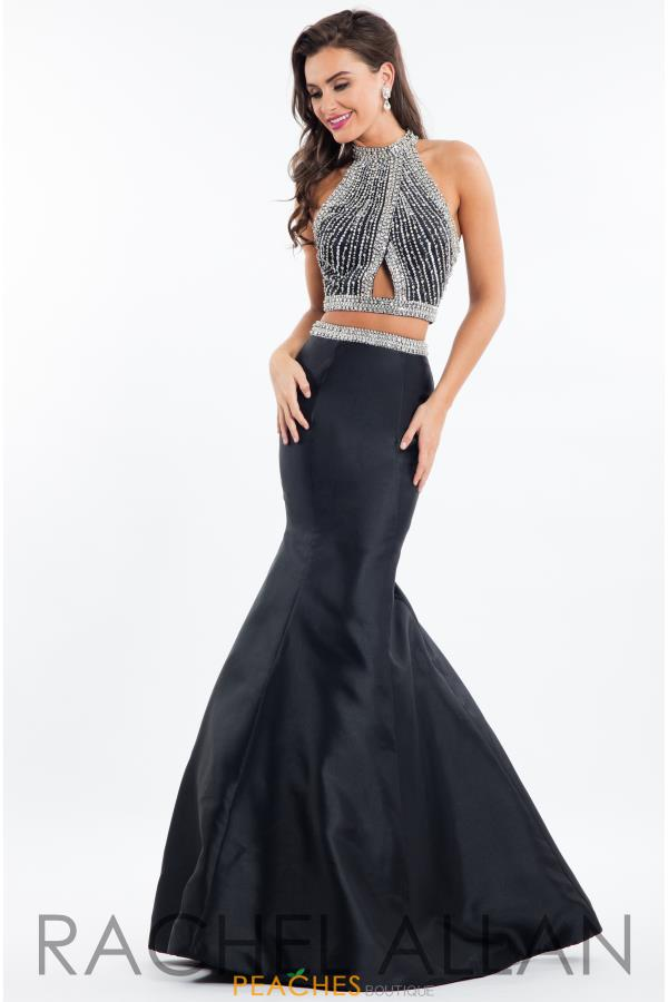 Rachel Allan Two Piece Beaded Dress 7631