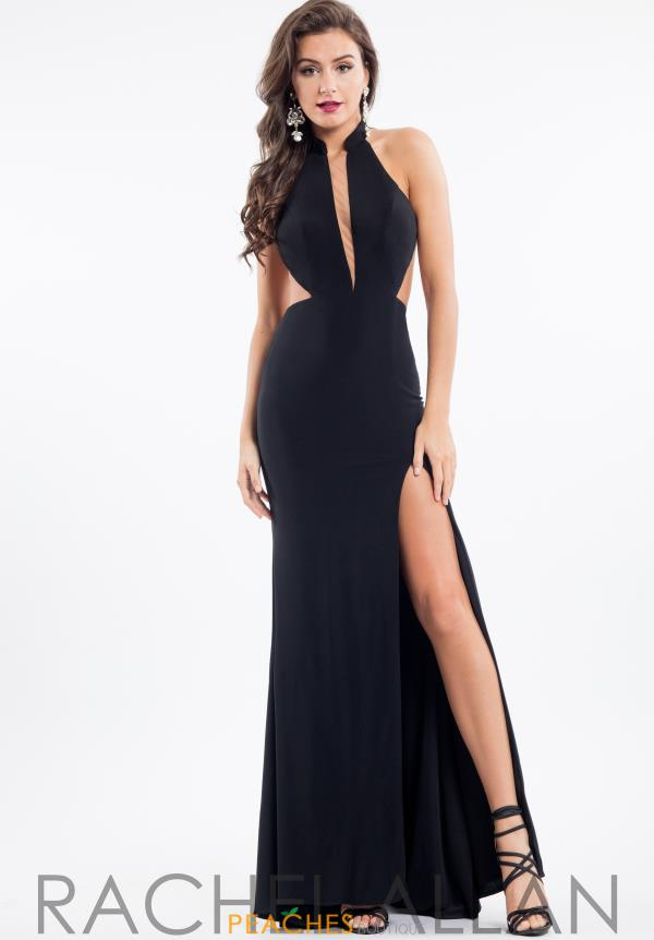 Rachel Allan Fitted Halter Neckline Dress 7639