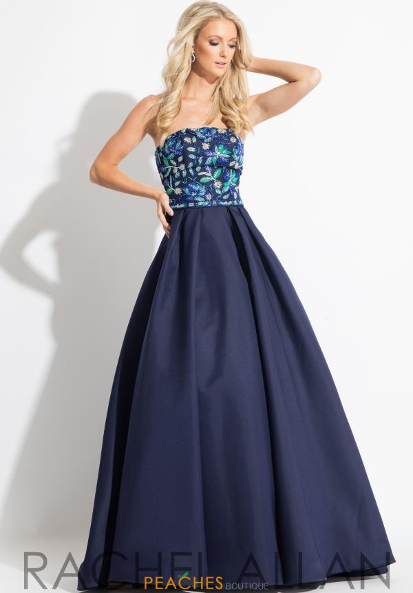 Rachel Allan A Line Strapless Dress 7694