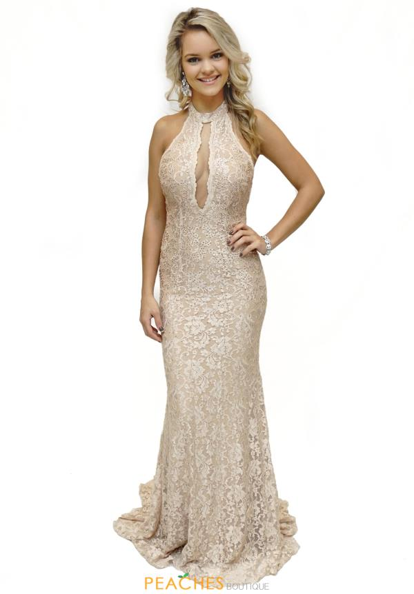 Lace Fitted Jovani Dress 45169