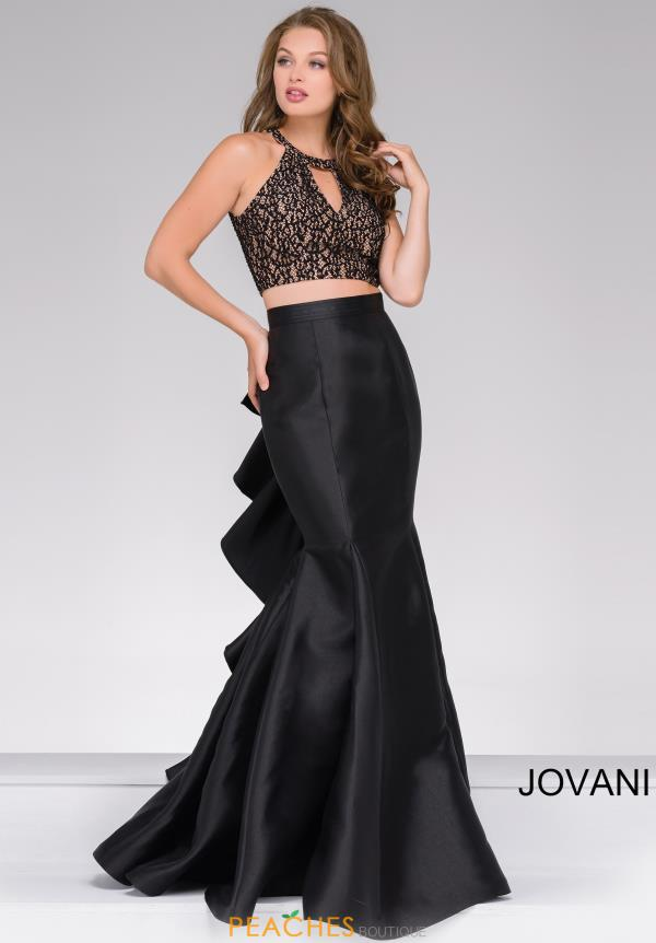 Jovani Beaded Two Piece Dress 41194
