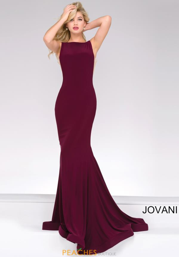 Jovani High Neckline Fitted Dress 47100