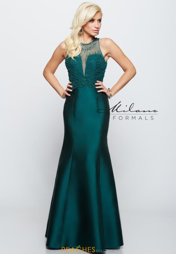 Milano Formals Long Fitted Dress E2008
