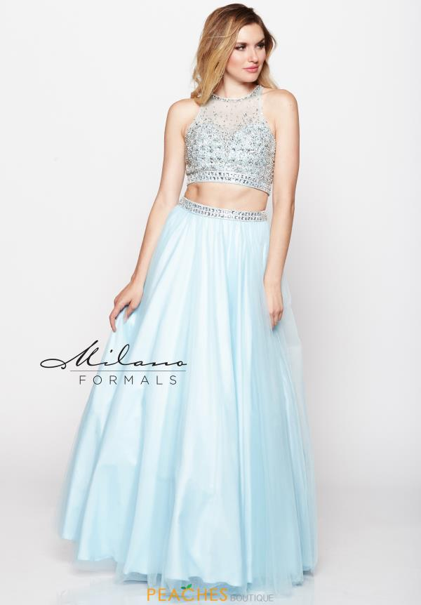 Milano Formals Long Beaded Dress E2097