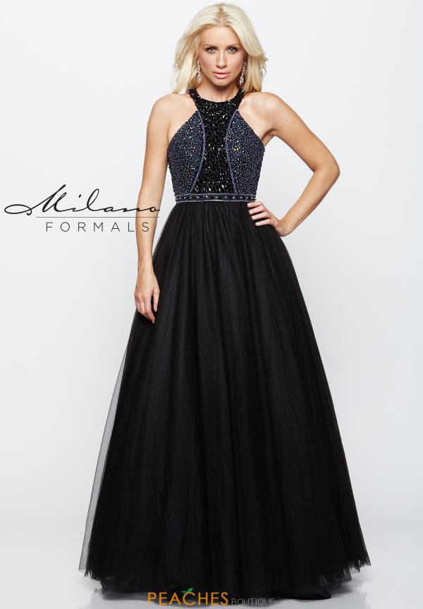 Milano Formals Tulle A line Dress E2104