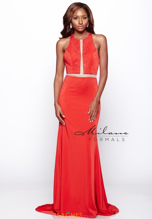 Milano Formals Red Fitted Dress E2112