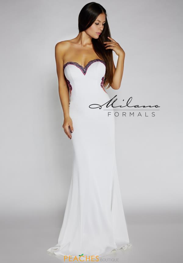 Strapless Fitted Milano Formals Dress E2115